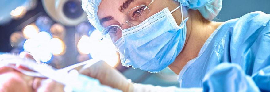 Intervention en chirurgie du menton